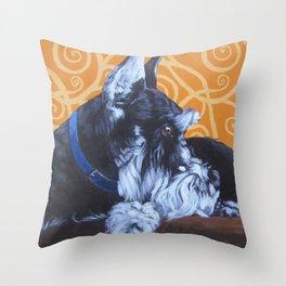 Remmington Schnauzer Throw Pillow