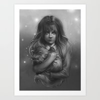 hermione Art Prints featuring Hermione by AlchemyArt