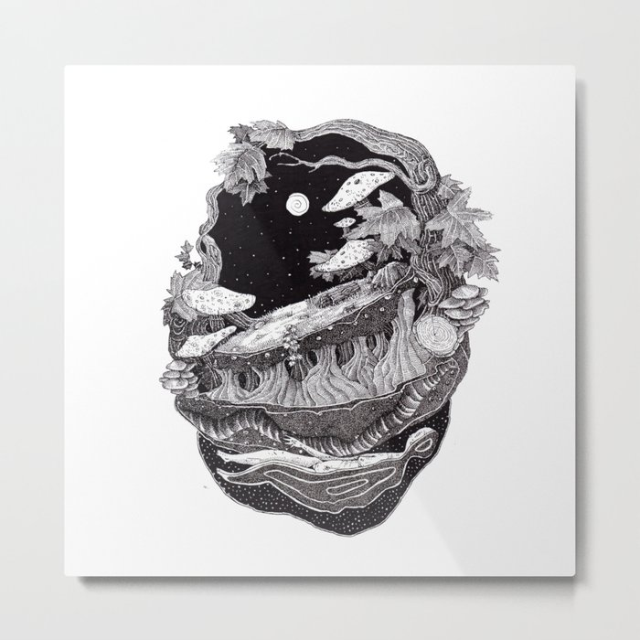 dark spirit of the nature collab franciscomff Metal Print