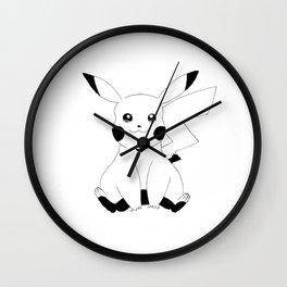 CUTE DARK PIKACHUUU Wall Clock