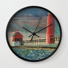 Grand Haven Pier Wall Clock