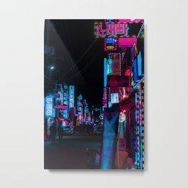 Cyber Seoul Metal Print