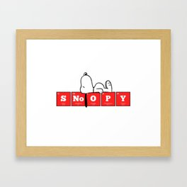 Elements of the Periodic Table: S-No-O-P-Y Framed Art Print