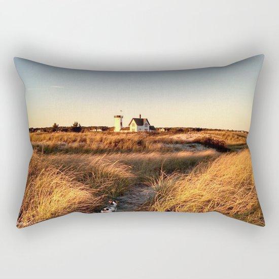 Hardings Beach Light House Rectangular Pillow