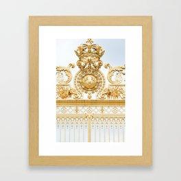 Versailles Golden Gates Framed Art Print