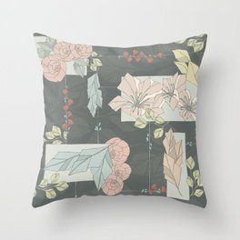Flower Fracas Throw Pillow