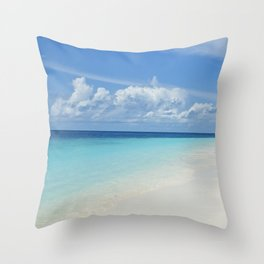The Maldives' Blue Throw Pillow