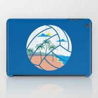 volleyball iPad Cases featuring Beach Volleyball by Erik Sandi Satresa