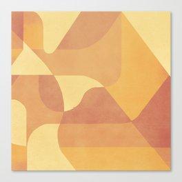 Geometric Pattern in Summer Orange Canvas Print