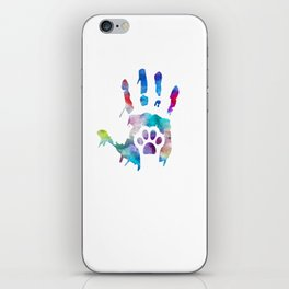 watercolor Hand/Paw iPhone Skin