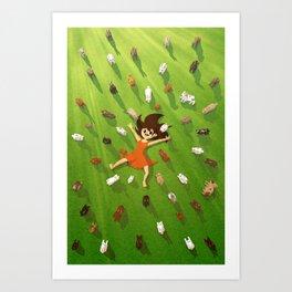Rabbit Island Art Print