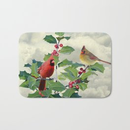 Cardinals on Tree Top Bath Mat
