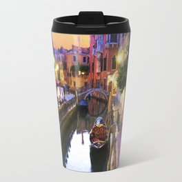 Sunset Alley In Venice Italy Travel Mug