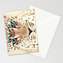 leopard 3D Stationery Cards