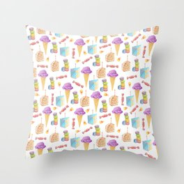Birthday Girl Pattern Throw Pillow
