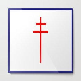 Croix de Lorraine- Metal Print