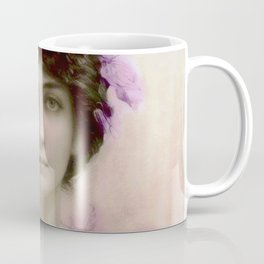 Beautiful,young lady,Belle epoque,victorian era, vintage, angelic girl, beautiful,floral,gentle,peac Coffee Mug
