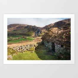 Irish cottage (RR308) Art Print