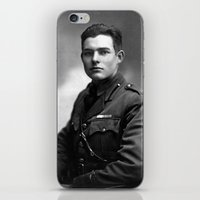 hemingway iPhone & iPod Skins featuring Ernest Hemingway in Uniform, 1918 by Limitless Design
