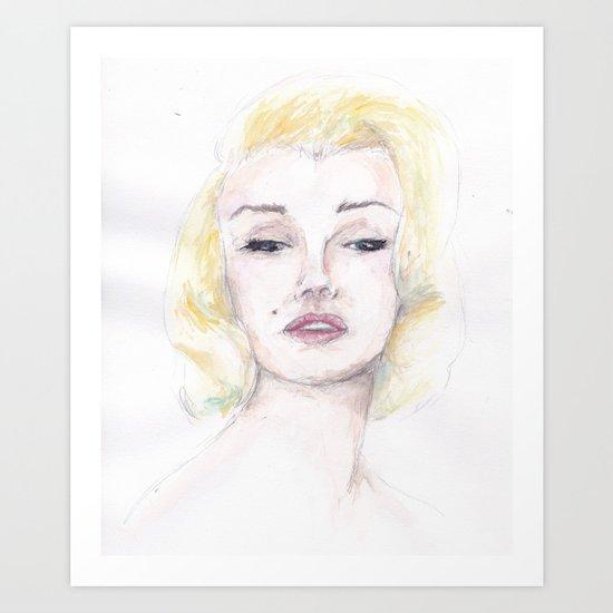 Marilyn Watercolor Art Print