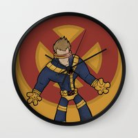 cyclops Wall Clocks featuring Cyclops by Twisted Dredz