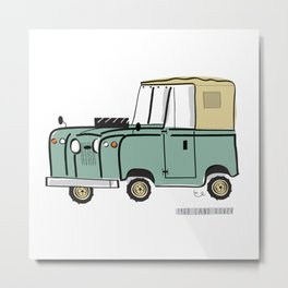 1960 Land Rover Metal Print