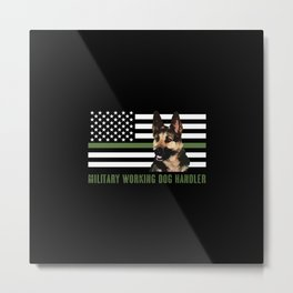 Military Working Dog Handler Metal Print