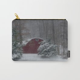 Red Barn in the Snow 2013 Carry-All Pouch