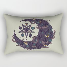 The Dark Moon Compels You to Fuck Shit Up Rectangular Pillow