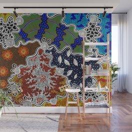 Authentic Aboriginal Art - The Seasons Wall Mural
