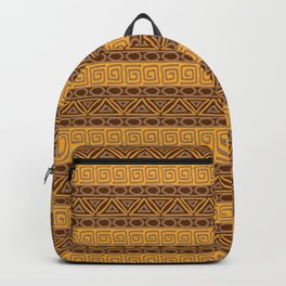 Ethnic african tribal hand-drawn pattern. Backpack