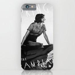 retro noir et blanc Spring in the Grampians iPhone Case