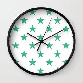 Stars (Mint/White) Wall Clock