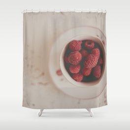 Raspberries Photograph #raspberryprint #foodprint #fooddecor #kitchendecor Shower Curtain