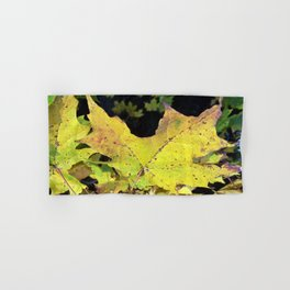 Spotted Maple Leaf Hand & Bath Towel