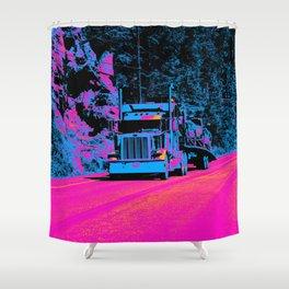 Big Rig Highway Hauler Shower Curtain