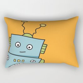 Friendly Blue Robot Rectangular Pillow
