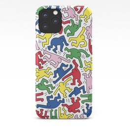 Dance Doodles homage to Keith Haring iPhone Case