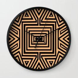 African Geometric Tribal Pattern 2 Wall Clock