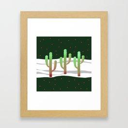 Holidays Cactus Landscape Framed Art Print