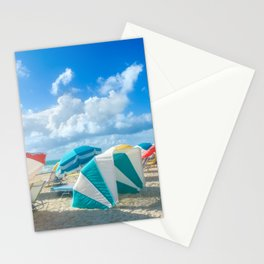 Miami beach cabanas and parasols Stationery Cards