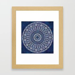 Blue and White Mandala - LaurensColour Framed Art Print
