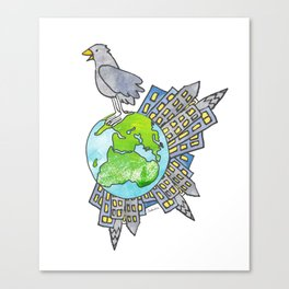 """Happy Alien Earth Bird (from the book, """"You, the Magician"""") Canvas Print"""