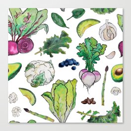 Superfood Pattern Canvas Print