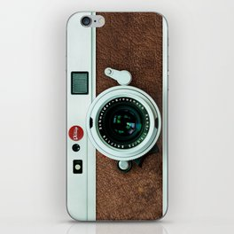 Retro vintage leather camera iPhone Skin