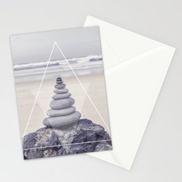 Rockbalancing And Geometry Stationery Cards