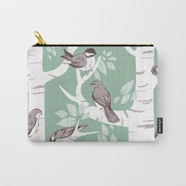 Birch Birds Carry-All Pouch