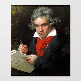 Ludwig van Beethoven (1770-1827) by Joseph Karl Stieler, 1820 Canvas Print