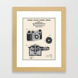Camera Patent 1938 Framed Art Print
