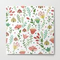 Floral pattern with ladybugs by artcolours
